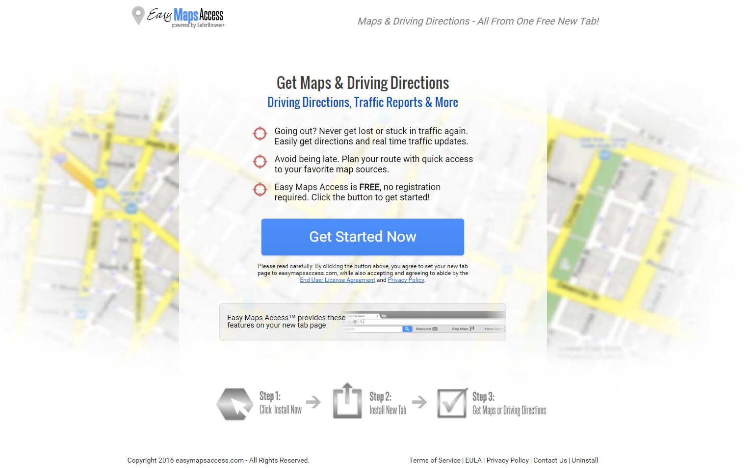 Easy Maps Access Ads