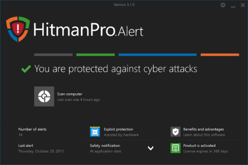 hitmanpro alert with cryptoguard