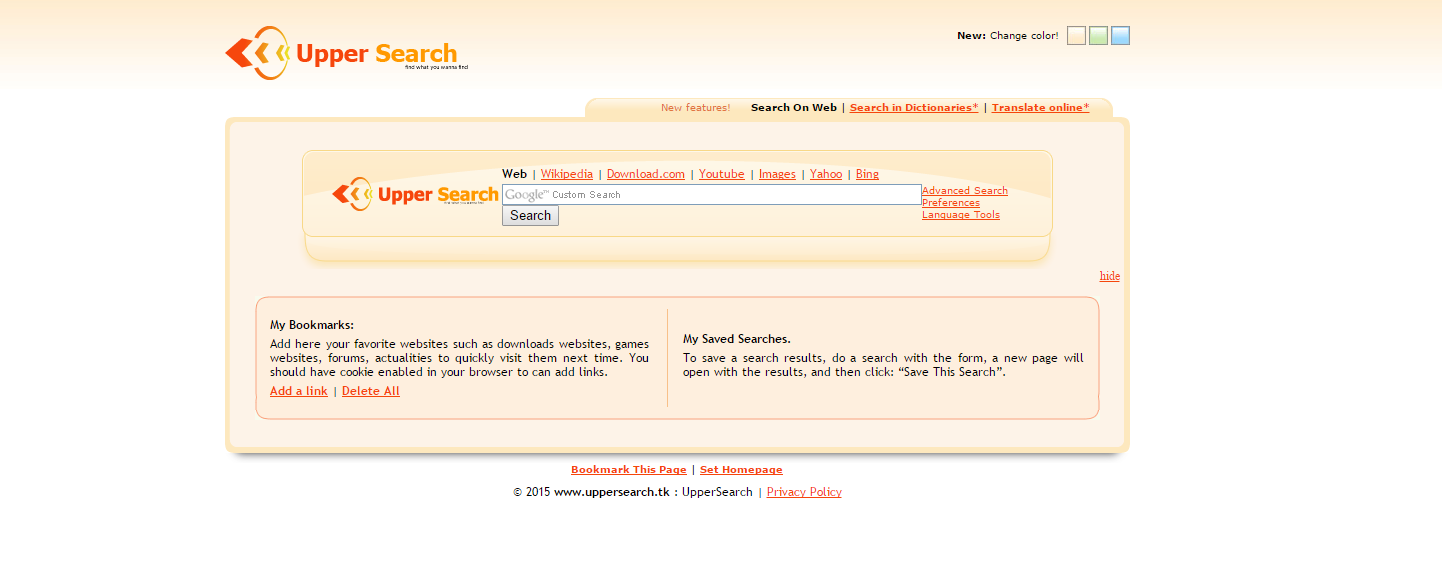 Uppersearch.tk Ads