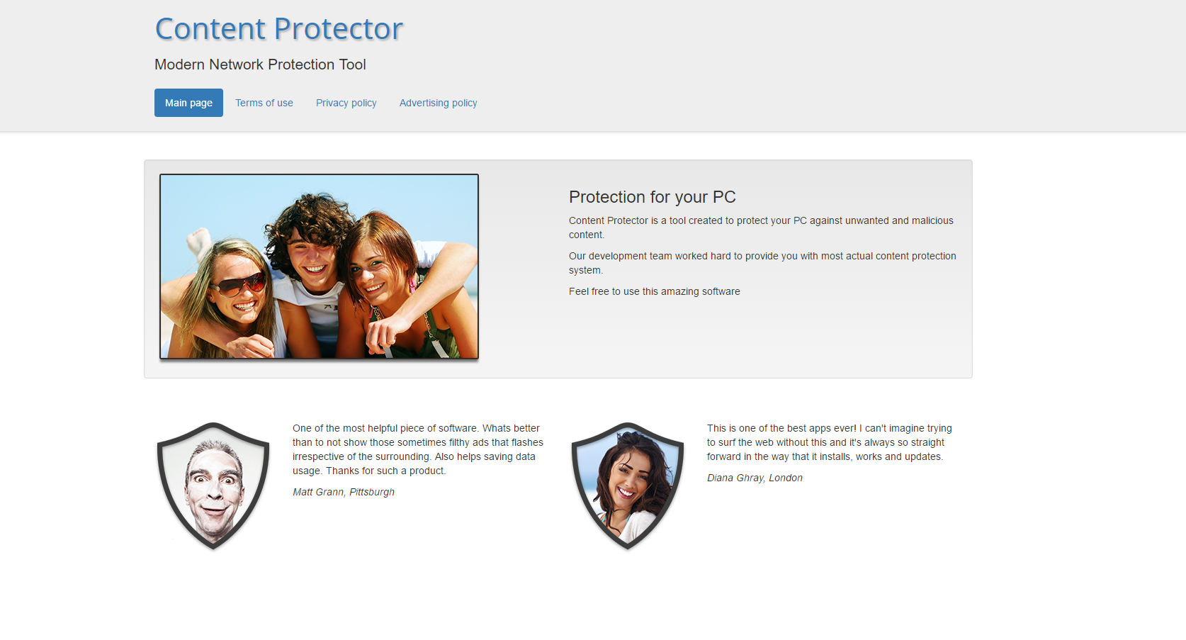 Content Protector Ads