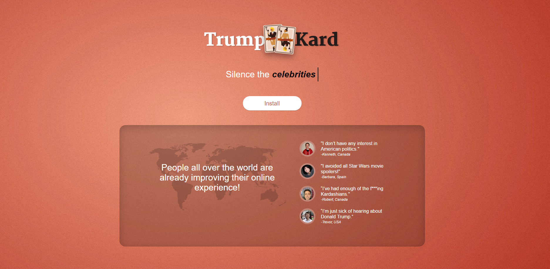 Trump Kard App Ads