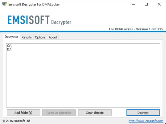 emsisoft decryptor for DMA-Locker 1