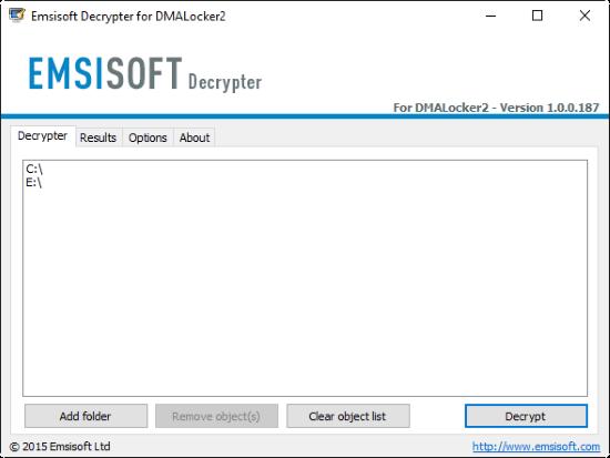 emsisoft decryptor for DMA-Locker 2