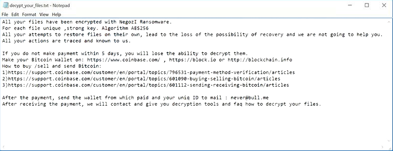 negozi ransomware virus