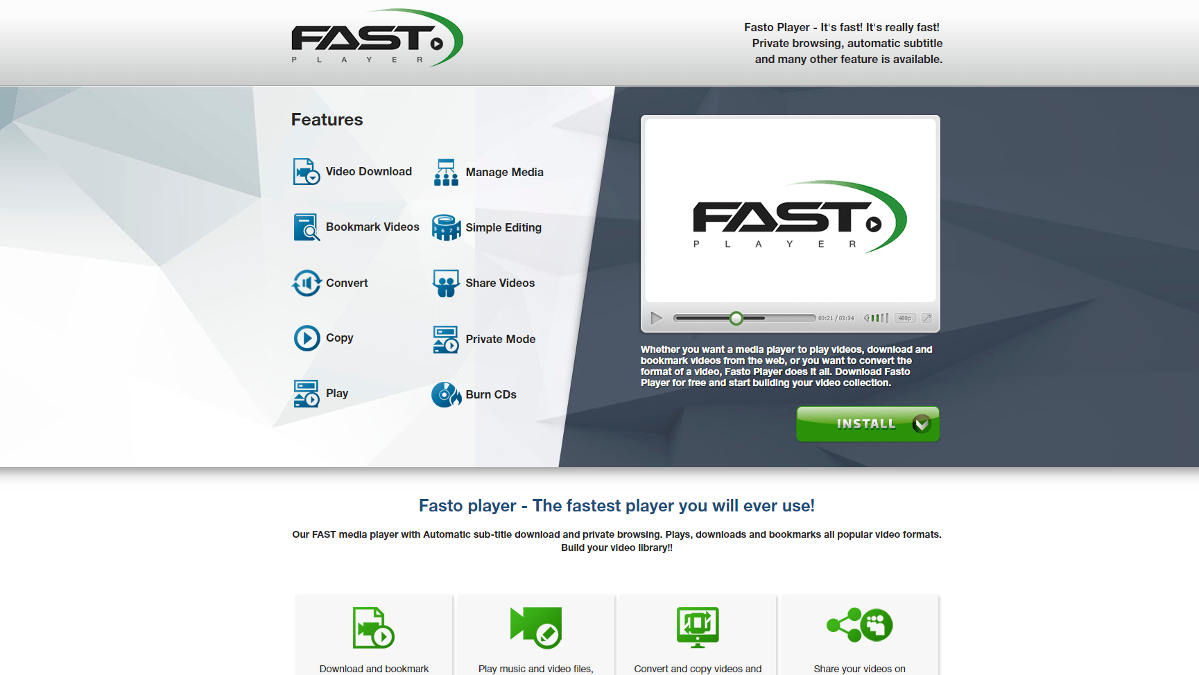 Fasto Player Ads