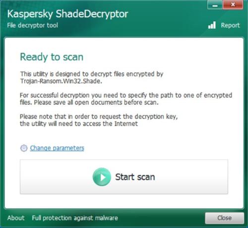 kaspersky decryptor for Troldesh Ransomware