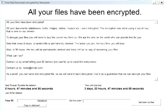 Stampado Ransomware ransomware virus