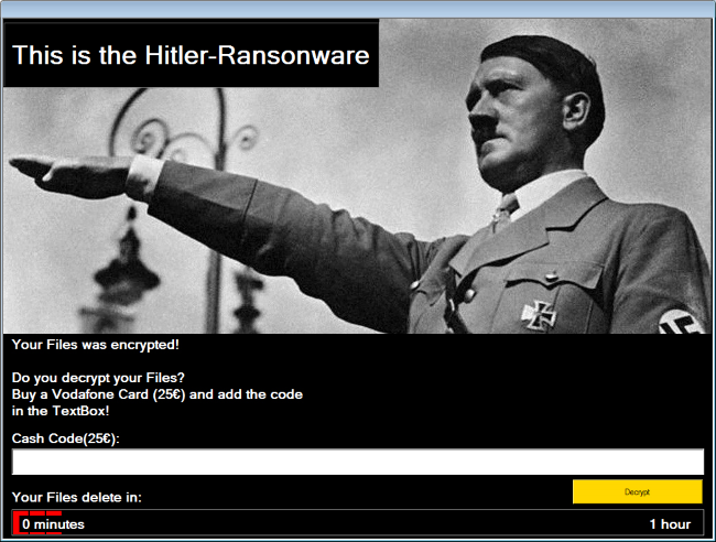 Hitler-Ransomware virus