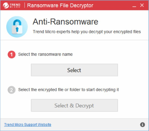 trendmicro .zzzzz ransomware decryptor
