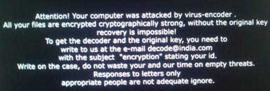 virus encoder ransomware
