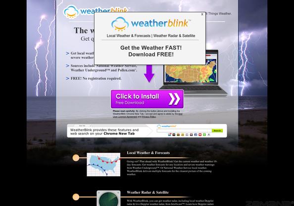 WeatherBlink hijacker