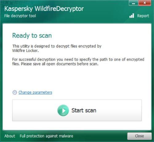 kaspersky decryptor for wildfire locker (.wflx files)