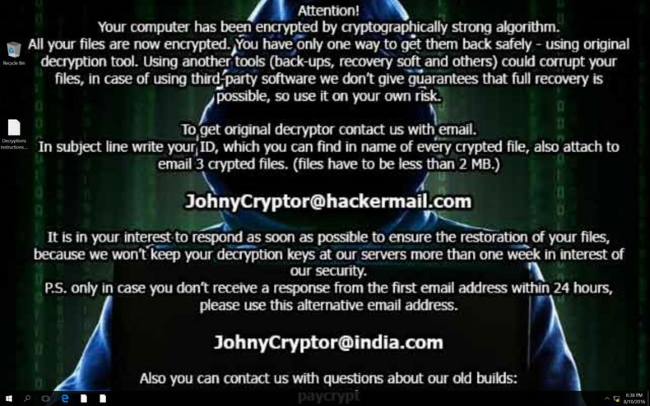 johnycryptor ransomware newest version