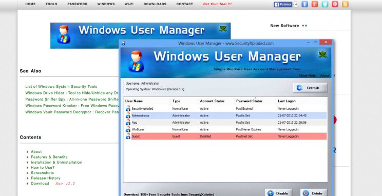 Windows User Manager Ads
