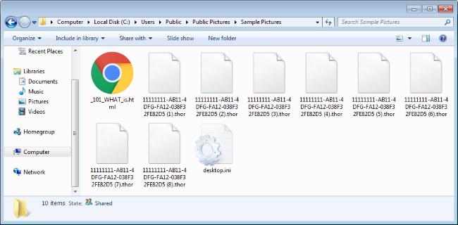thor encrypted files