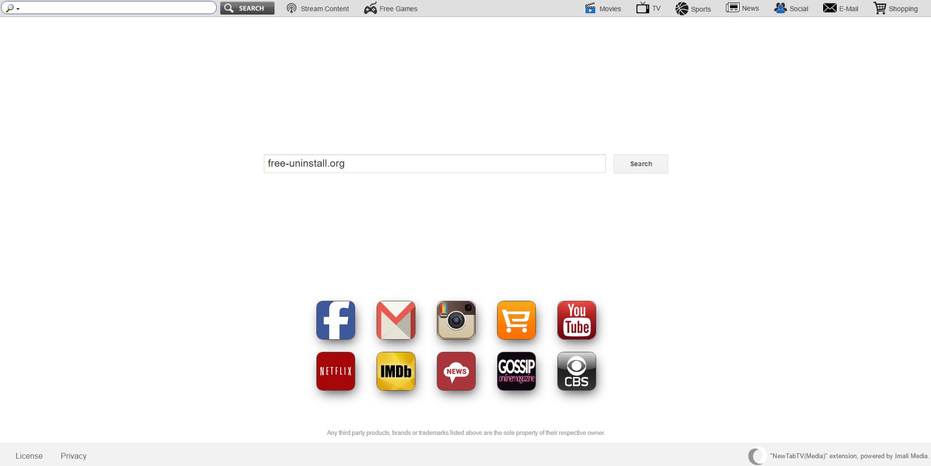 Search.newtab-tvsearch.com Hijacker