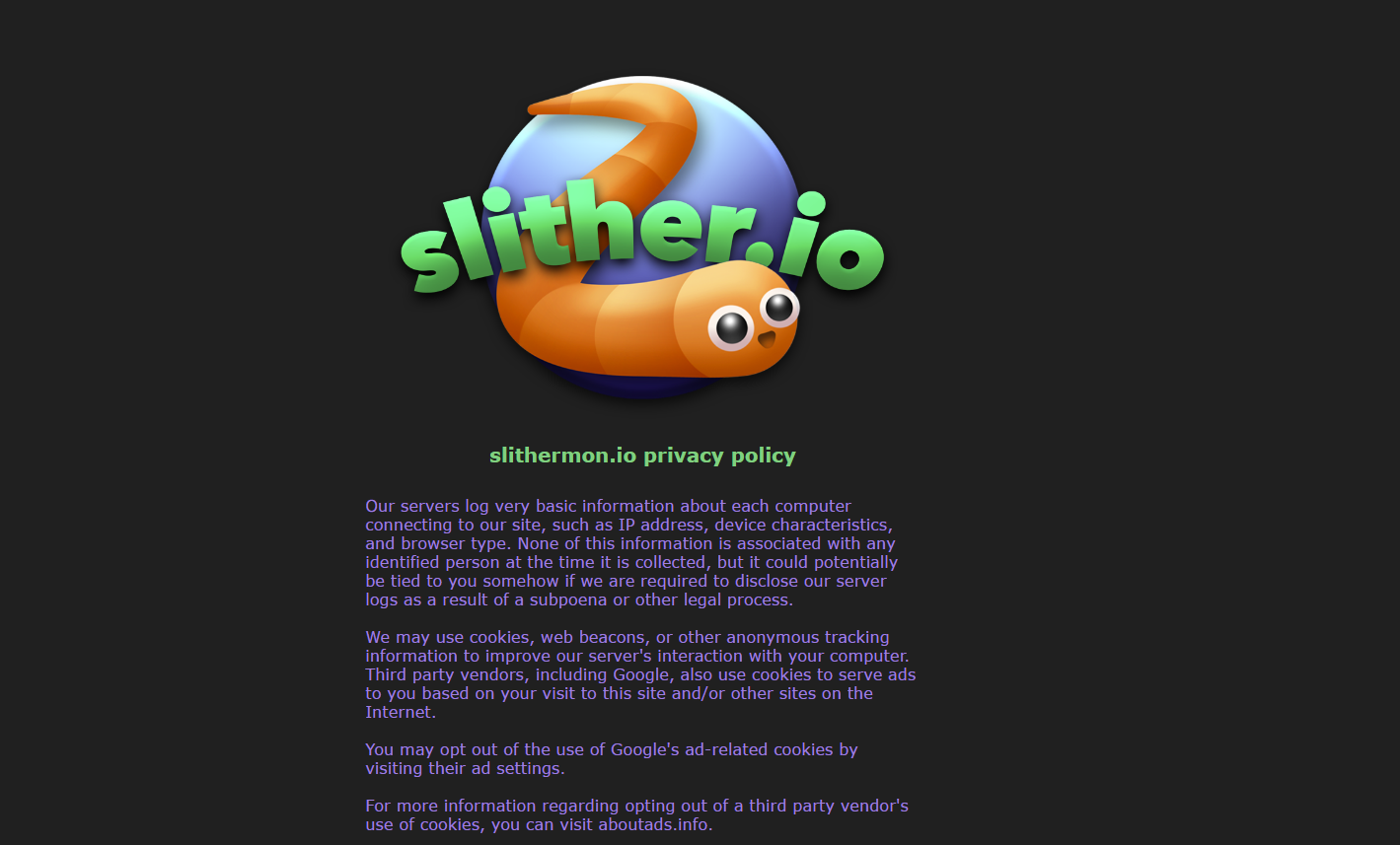 Ads by Slithermon