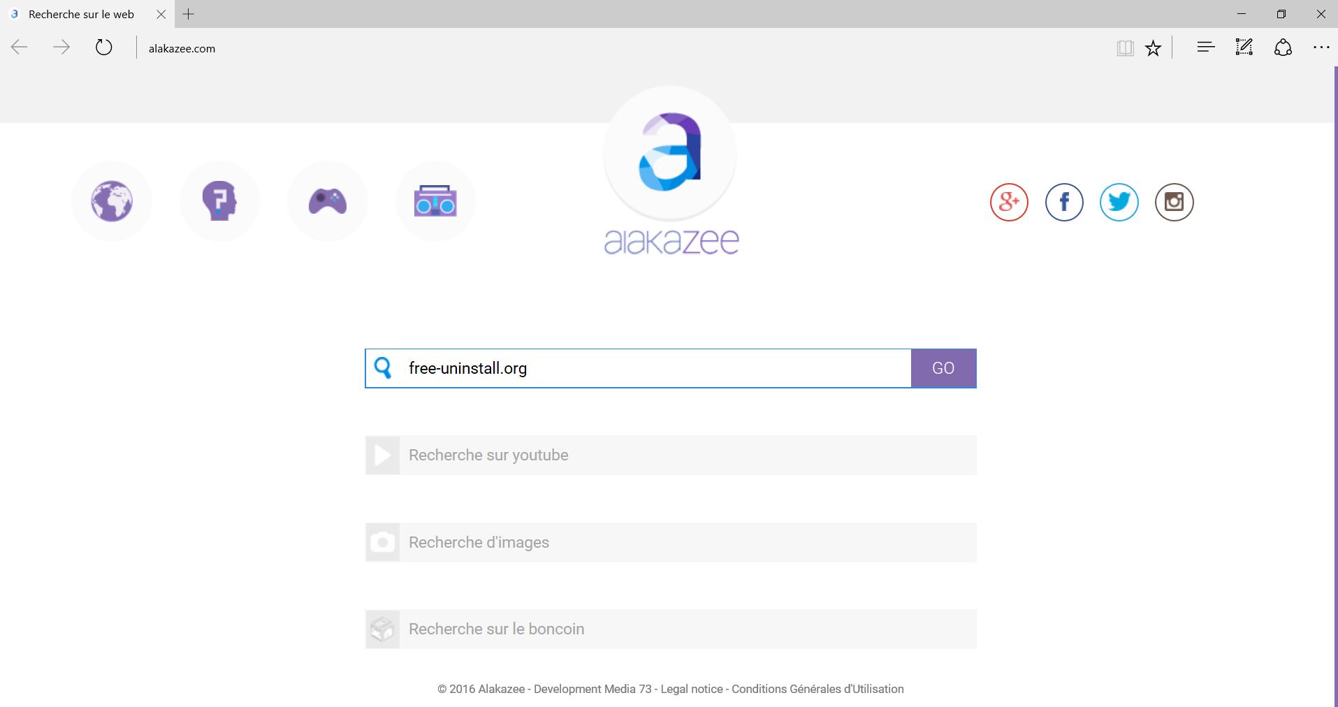 Alakazee.com Hijacker