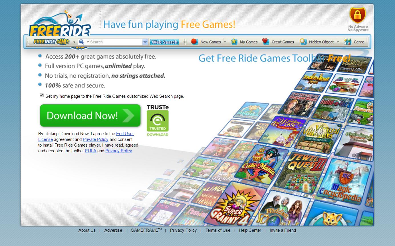 FreeRide Games Toolbar Hijacker