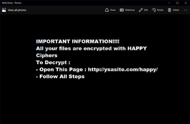 happylocker ransomware virus