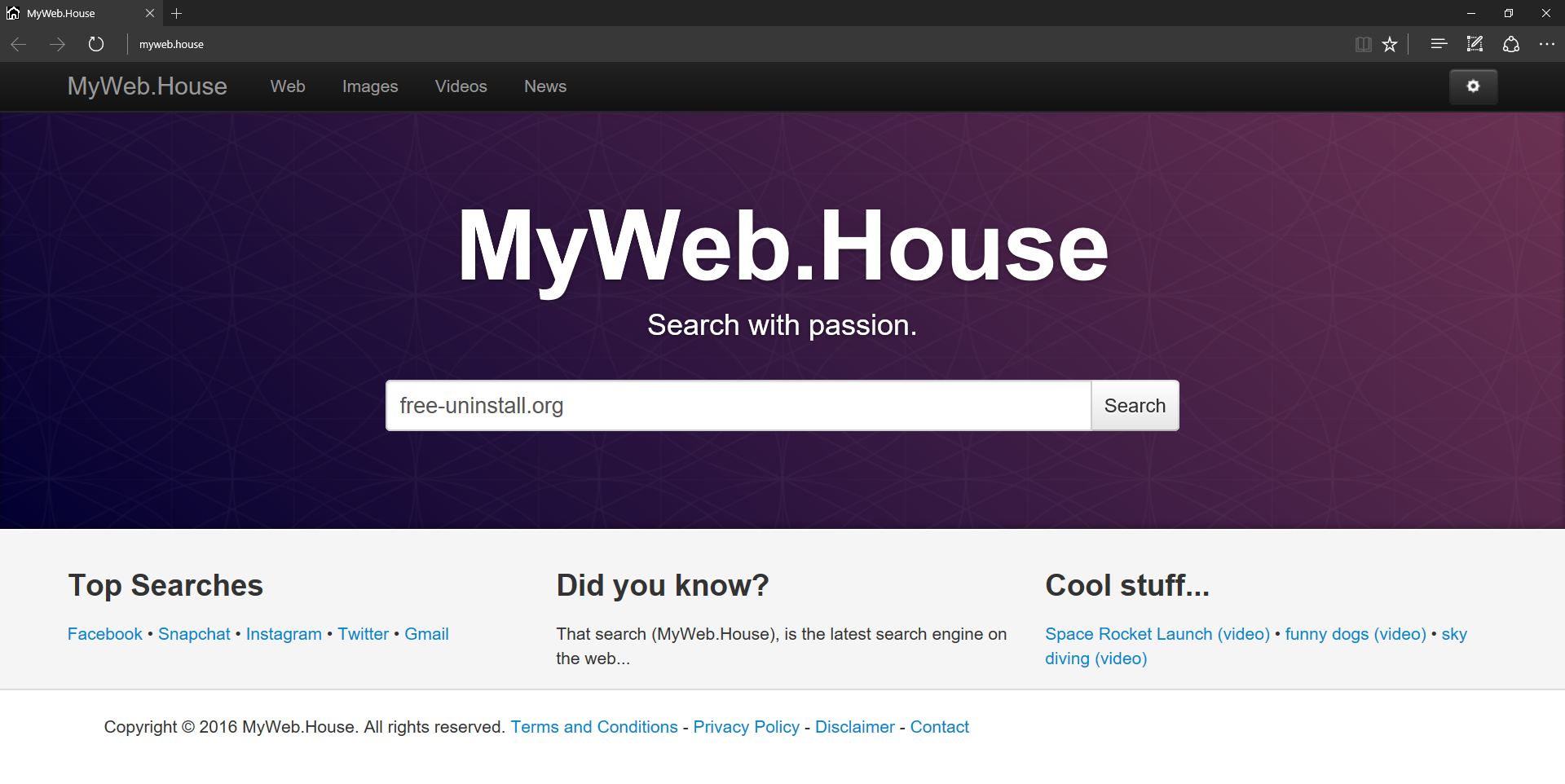 Myweb.house Hijacker