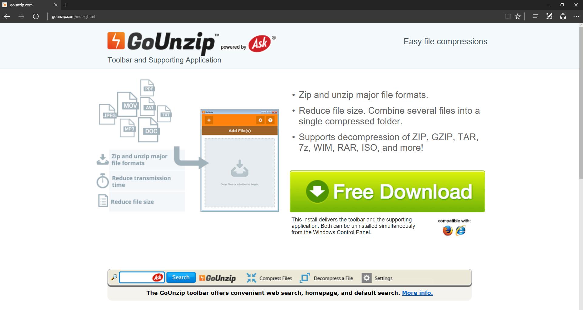 GoUnzip Toolbar