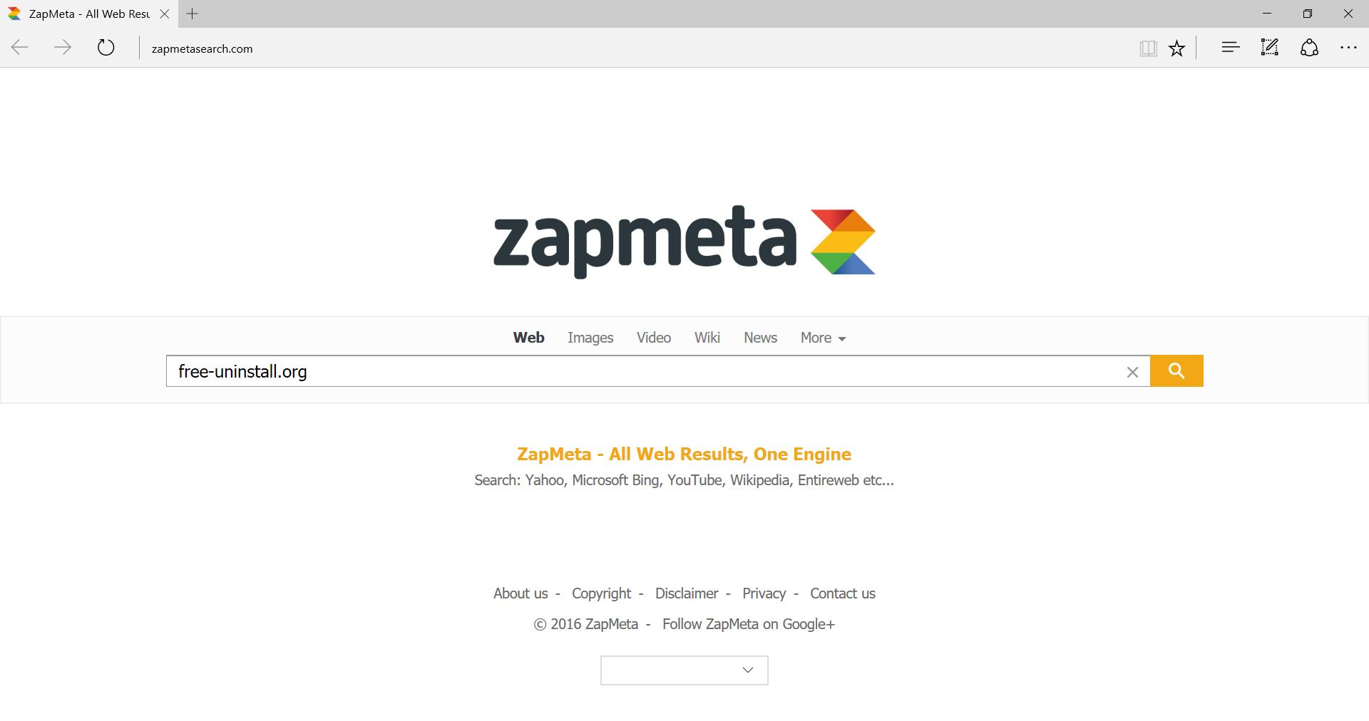 Zapmetasearch.com Hijacker