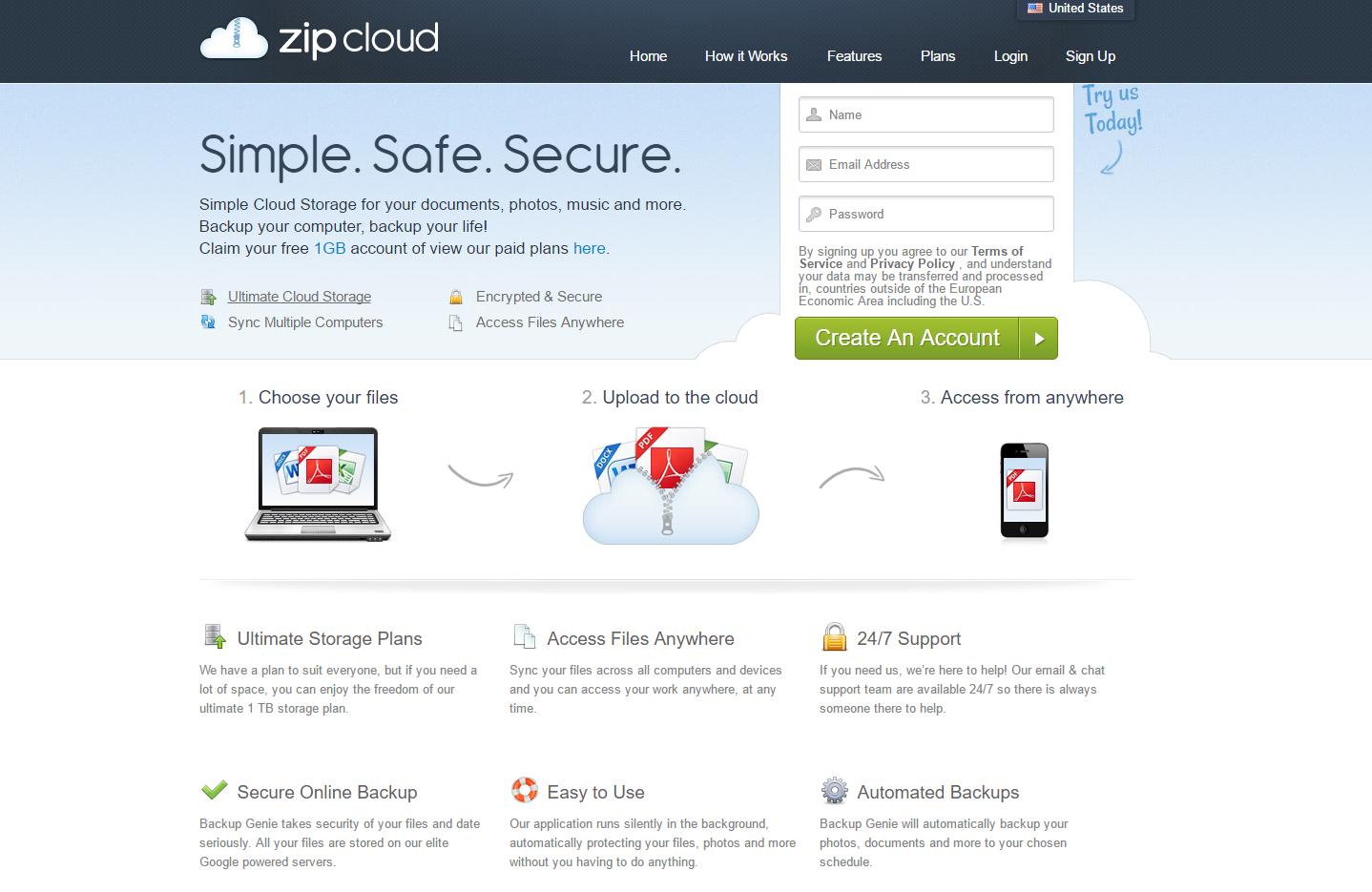 ZipCloud (Mac) ads