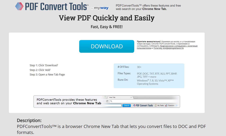 PDFConvertTools Toolbar Hijacker