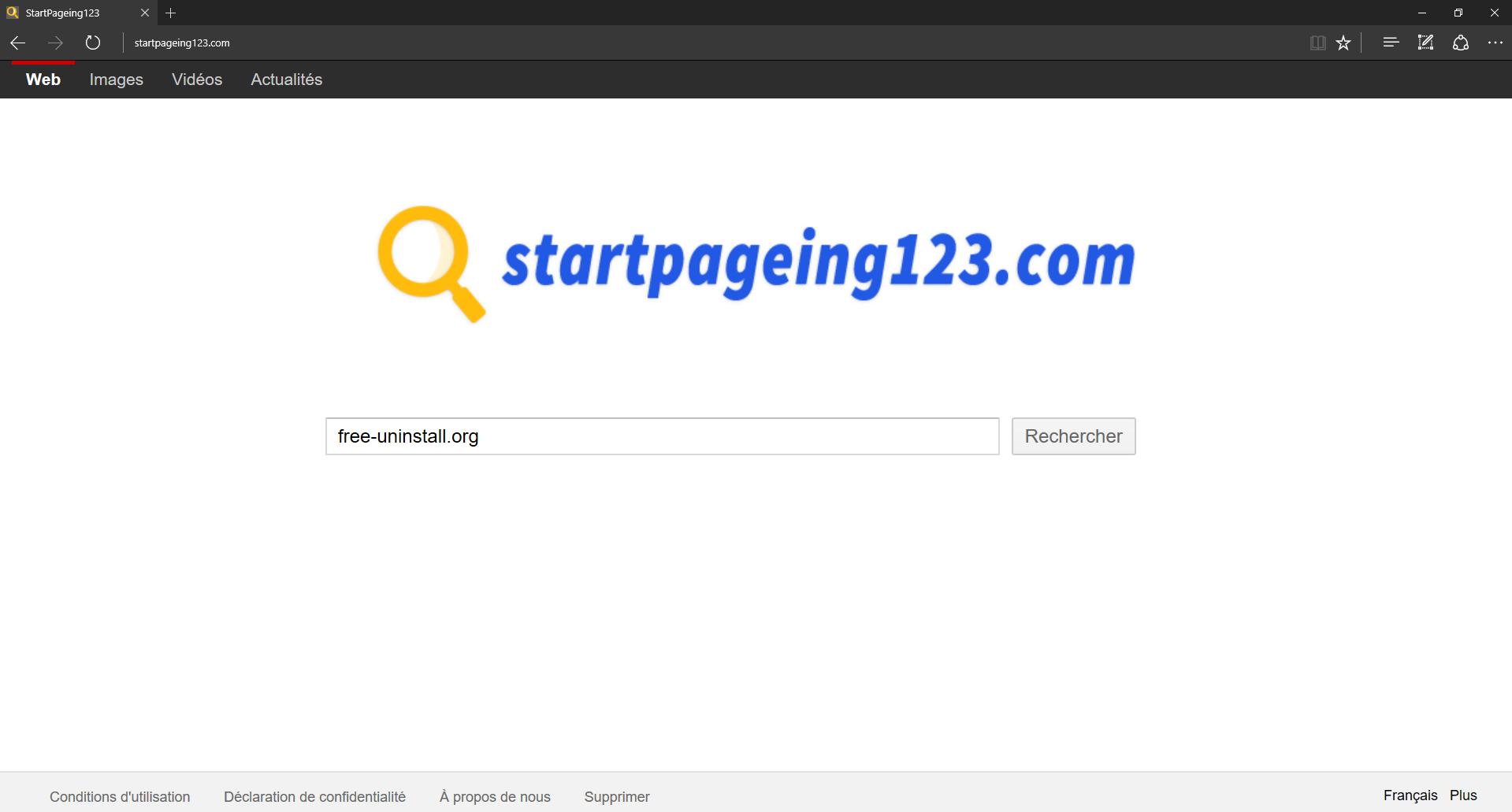 Startpageing123.com Hijacker