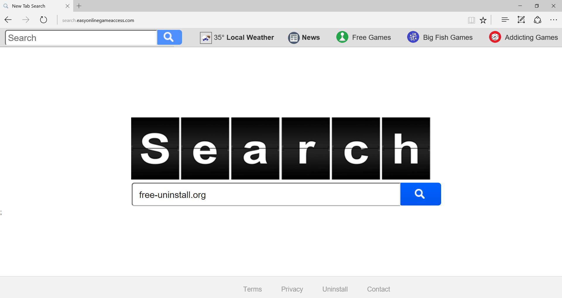 Search.easyonlinegameaccess.com Hijacker