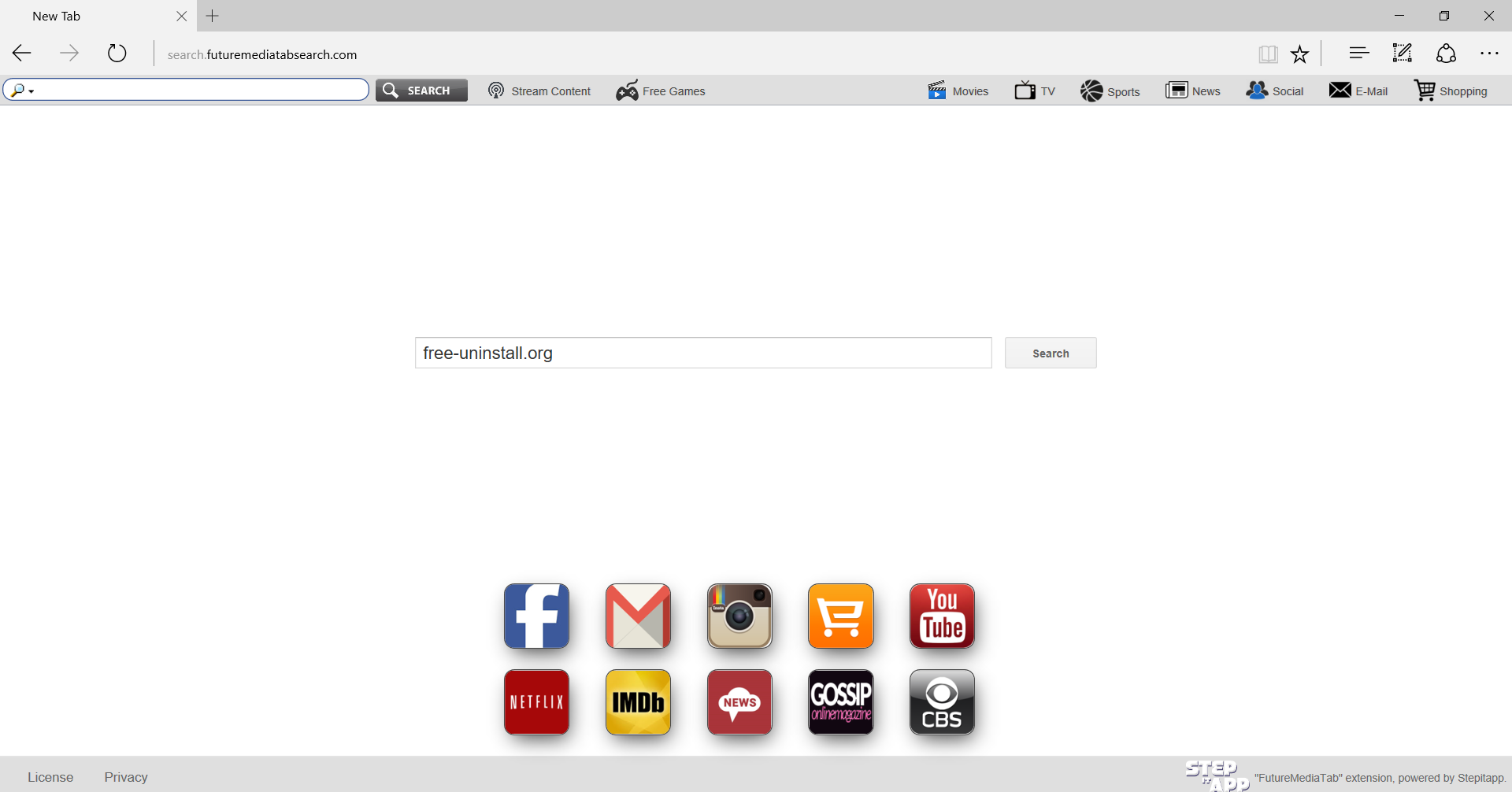 Search.futuremediatabsearch.com Hijacker