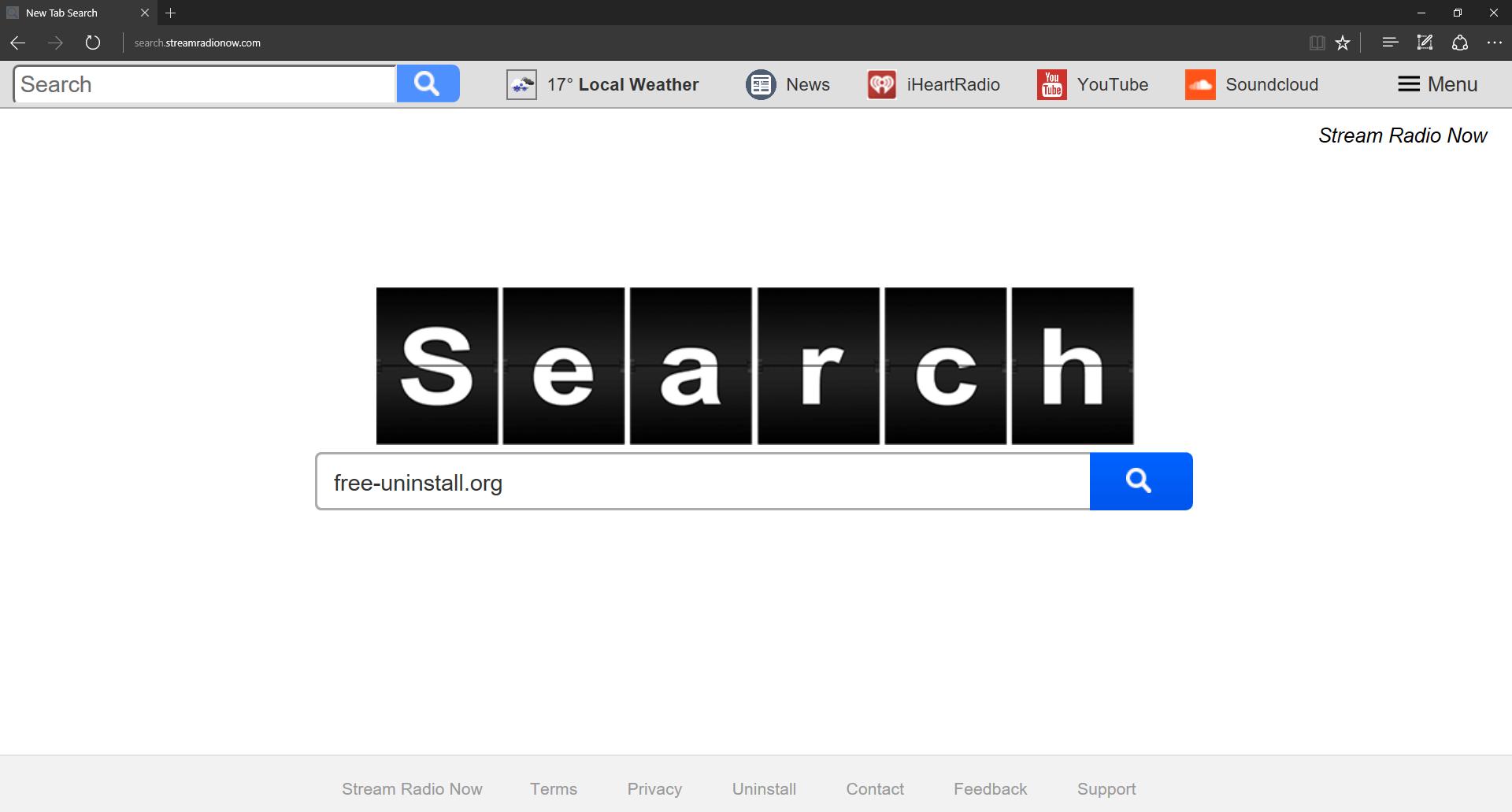 Search.streamradionow.com Hijacker