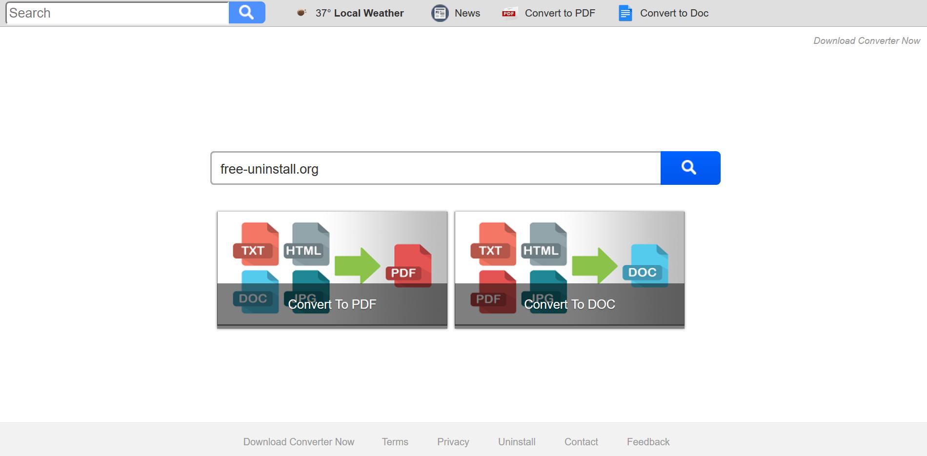 Search.searchdcnow.com hijacker