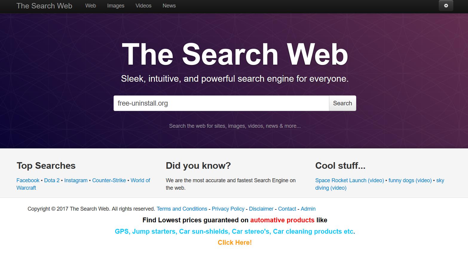 Thesearchweb.net hijacker