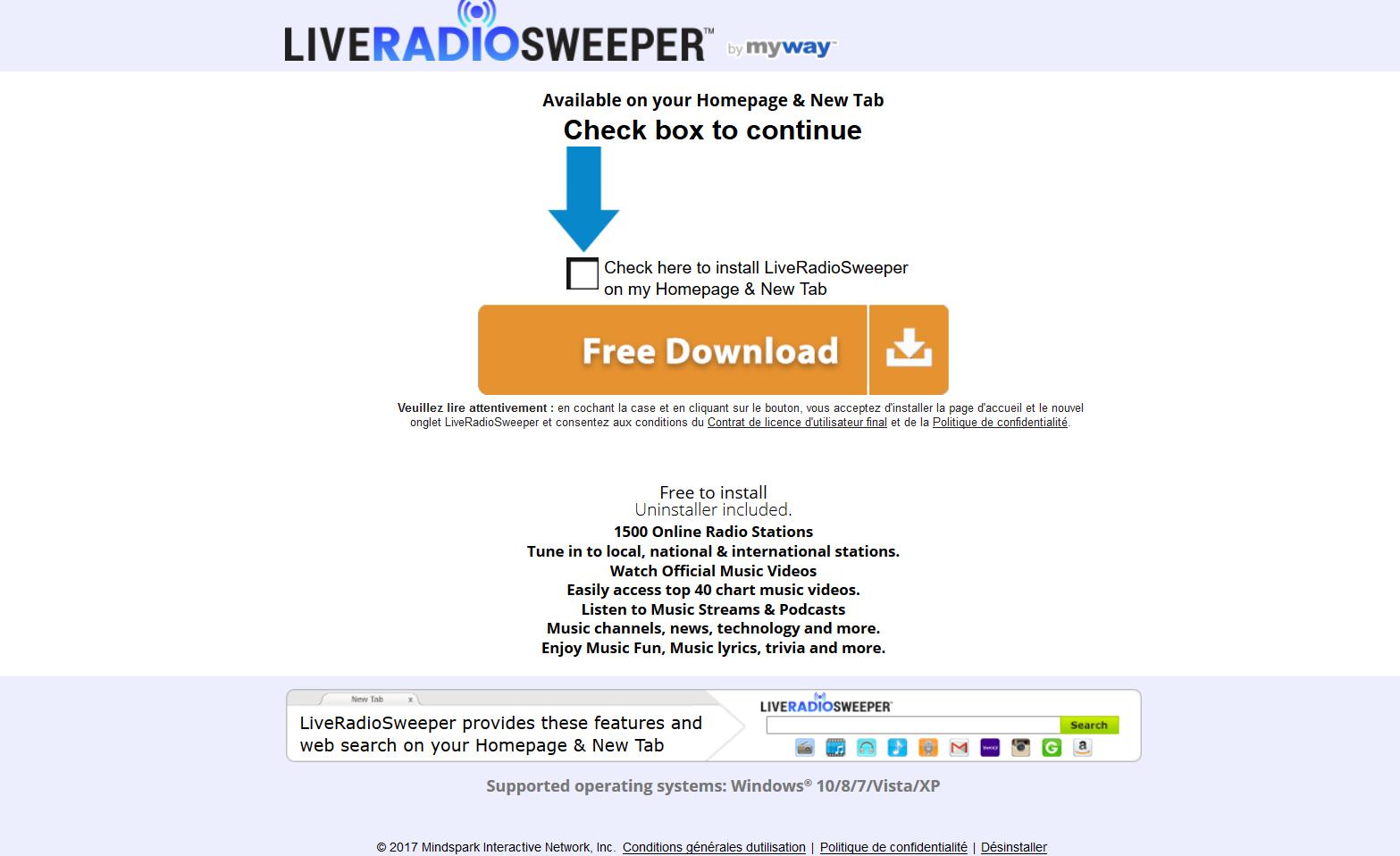 LiveRadioSweeper Toolbar