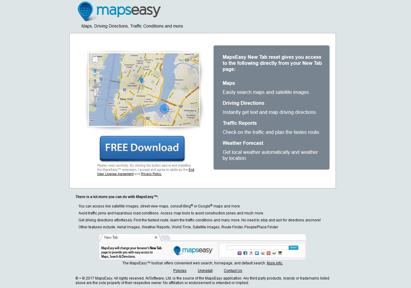 Mapseasy.net Hijacker