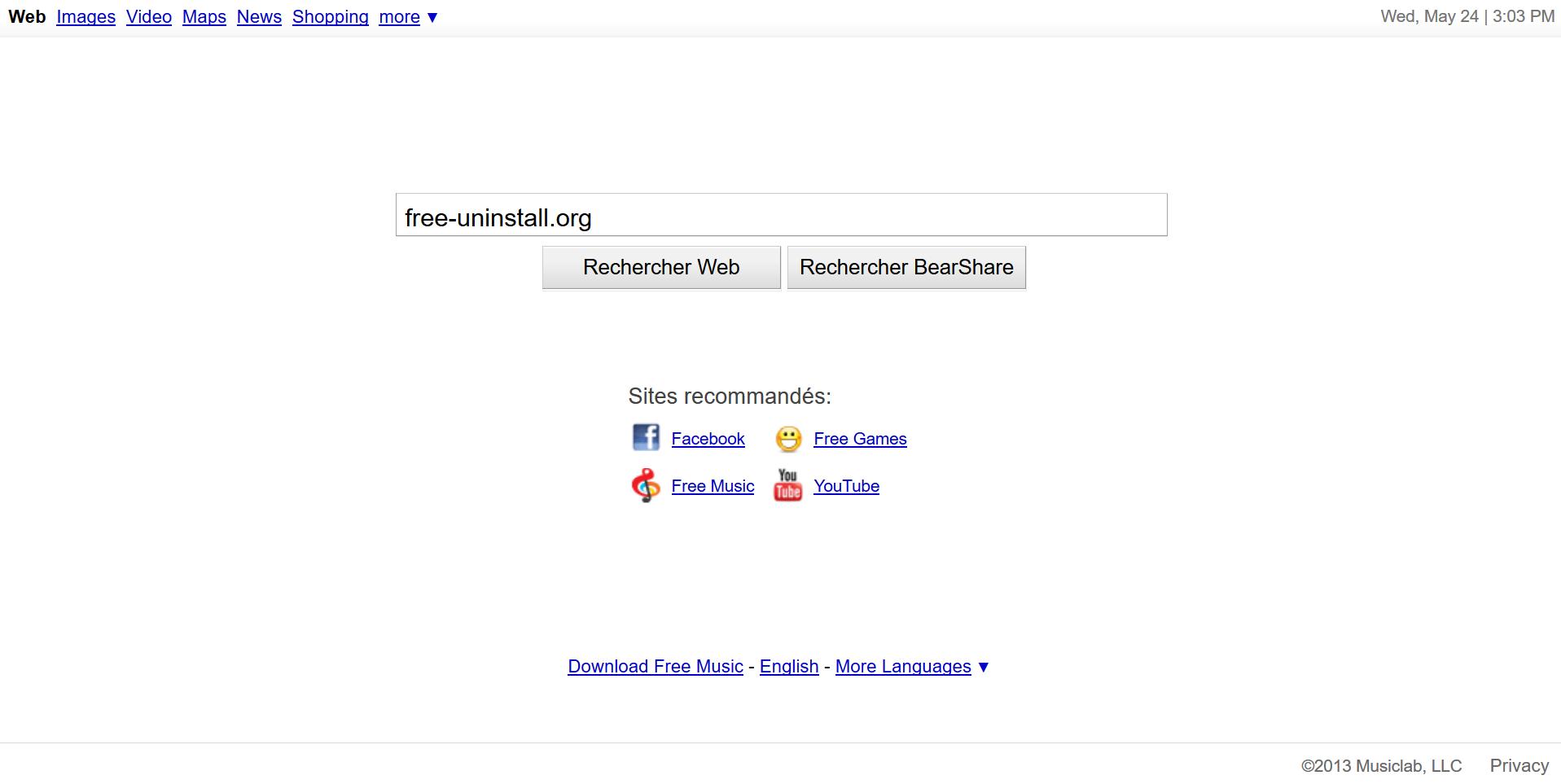 Search.bearshare.net hijacker