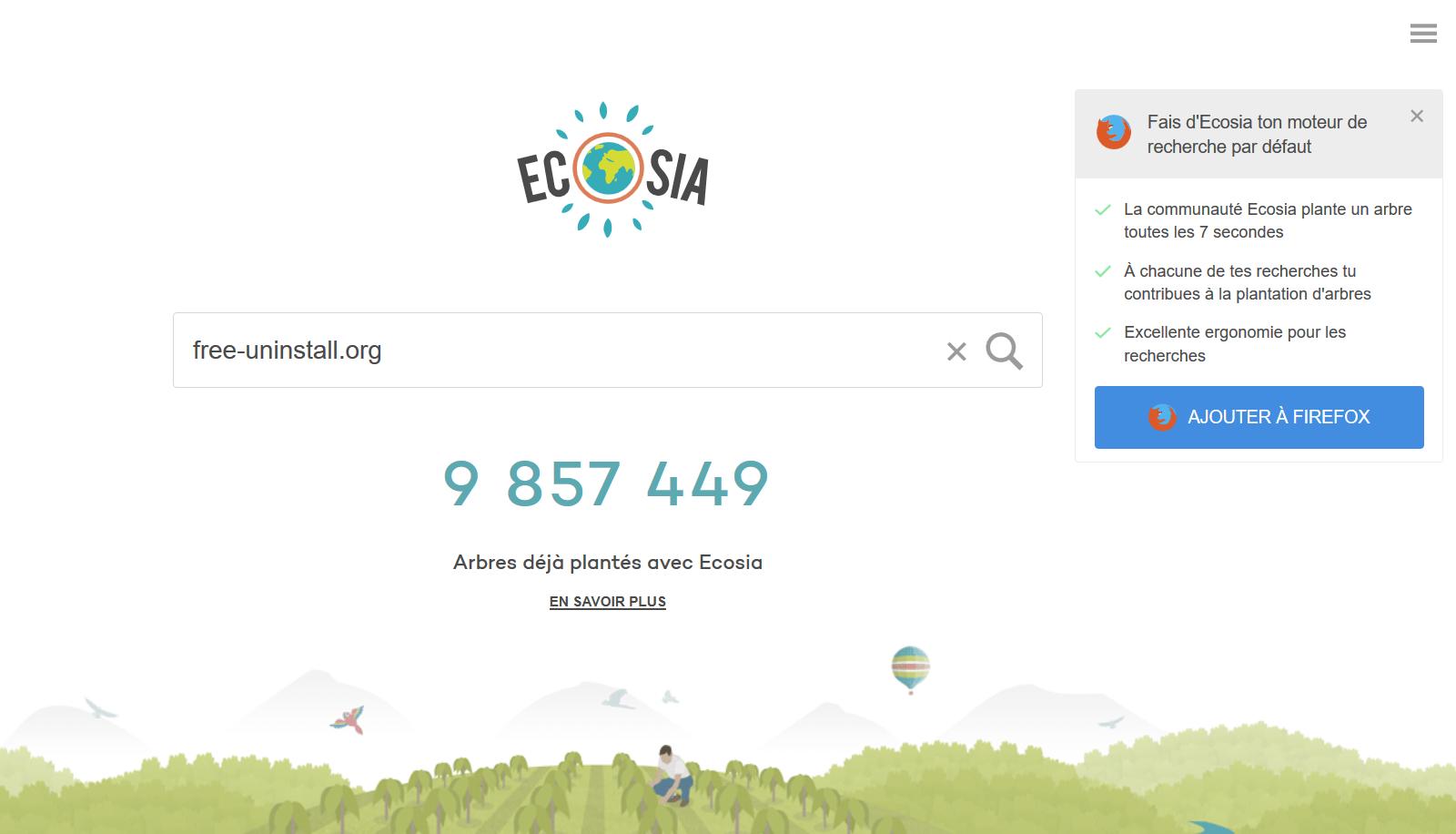 Ecosia hijacker
