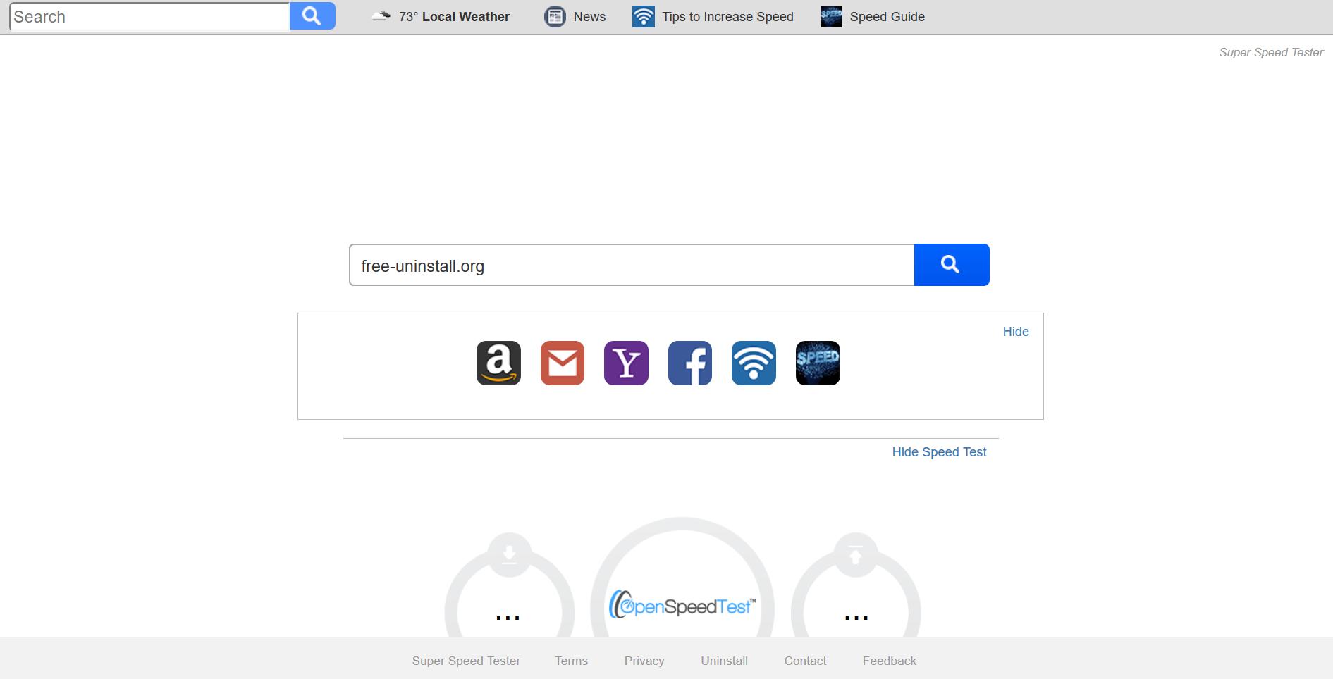 Search.superspeedtester.com hijacker