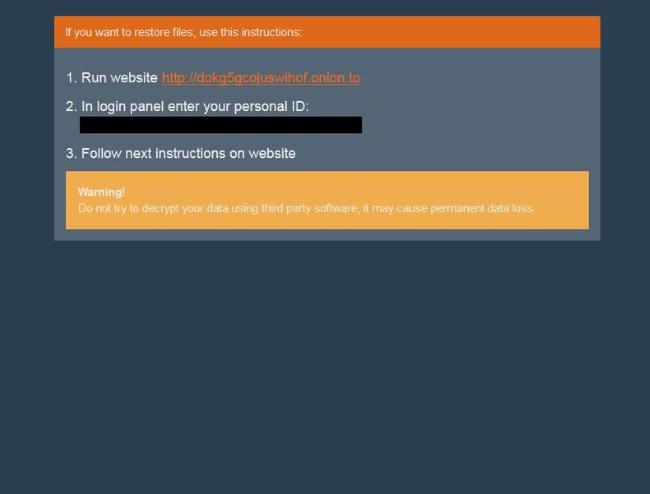 BTCWare Ransomware 2