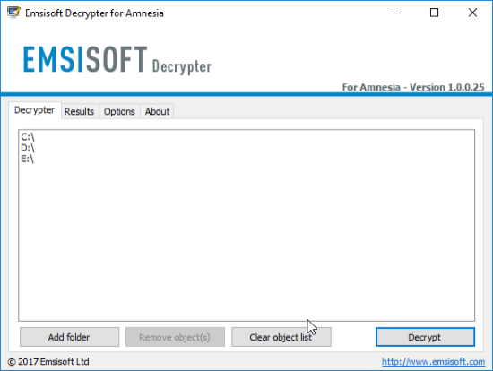 emsisoft decryptor for amnesia ransomware