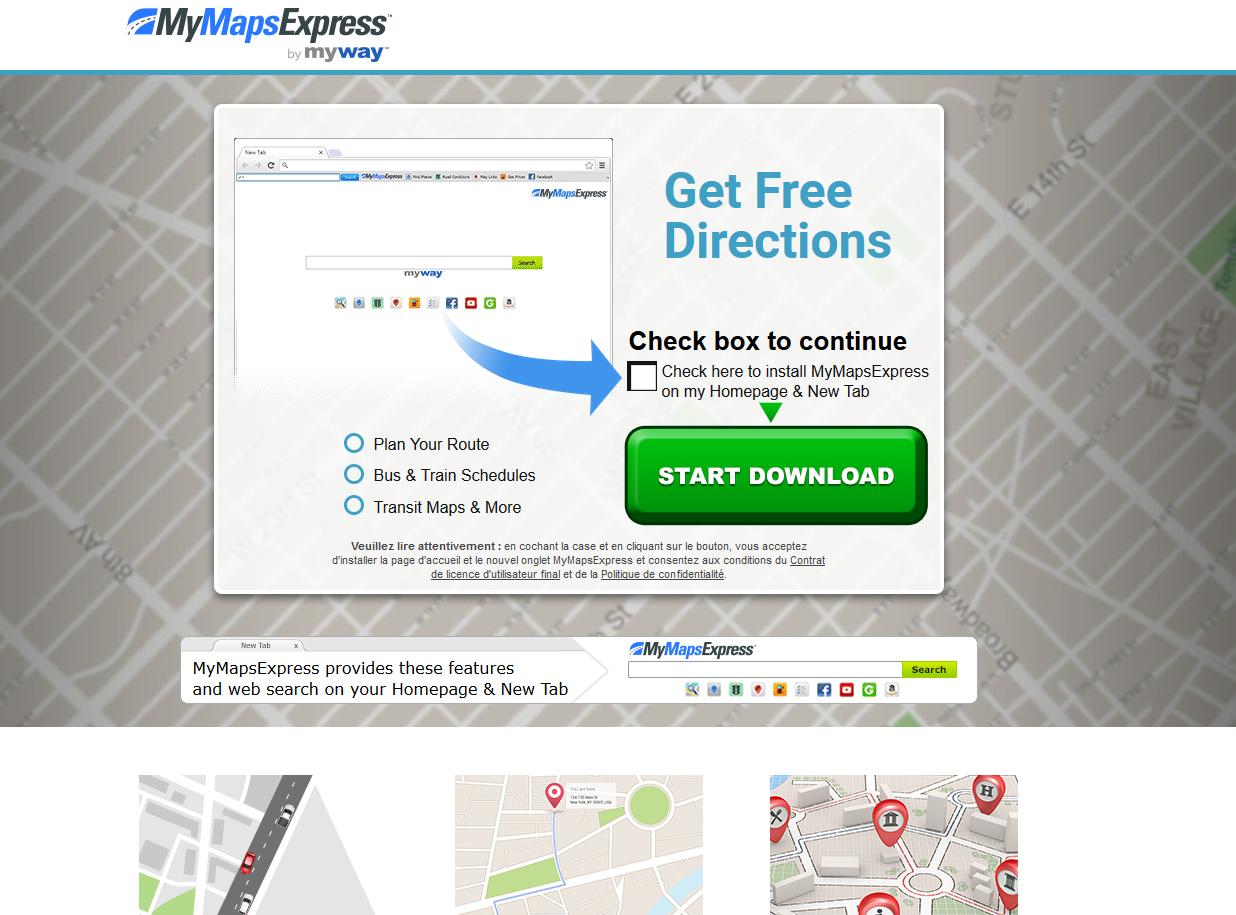 MyMapsExpress Toolbar hijacker