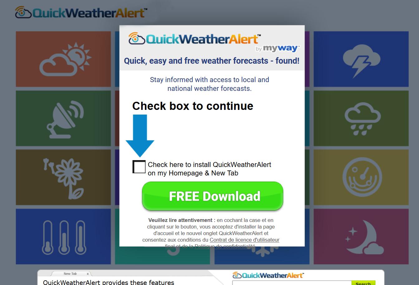 QuickWeatherAlert Toolbar