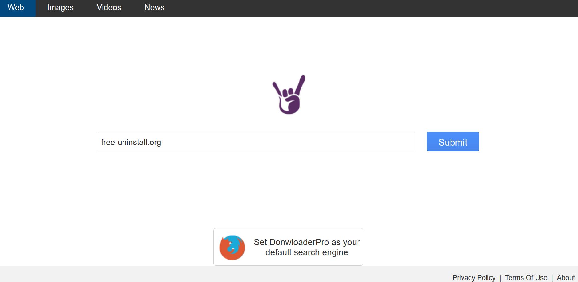 Search.downloaderpro.online hijacker