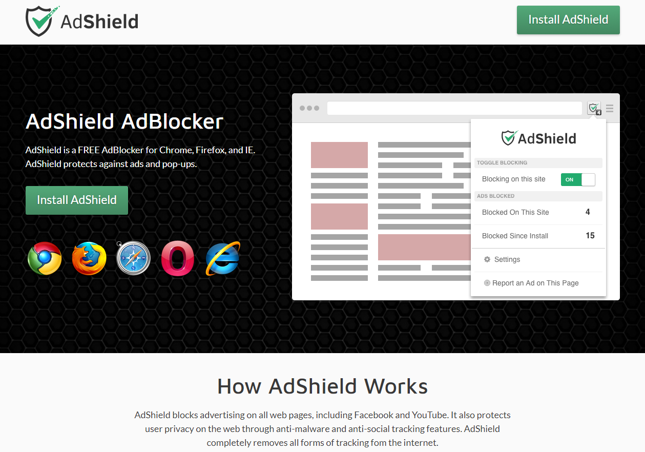 ads by Adshield
