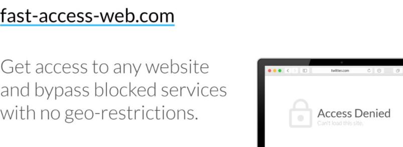 Fast-access-web Ads