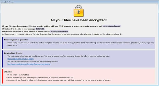 arena ransomware virus