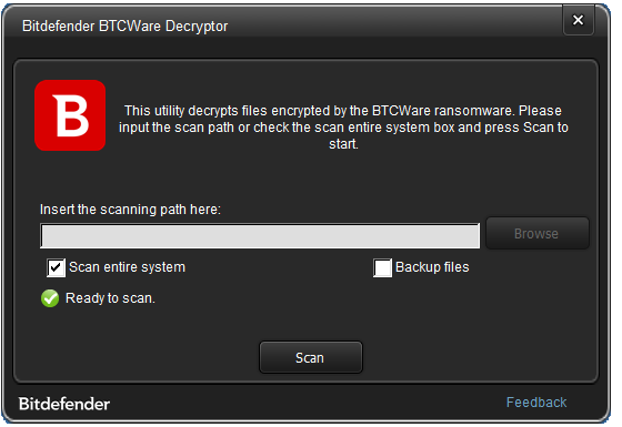 BTCWare Ransomware decrypter