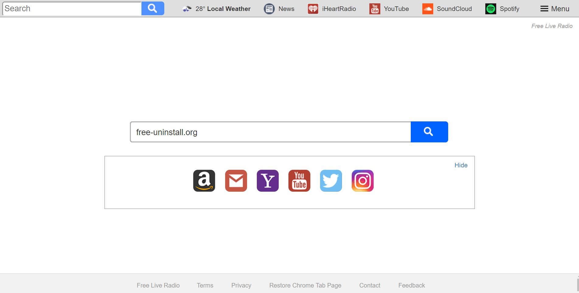 Search.hfreeliveradio.co Hijacker